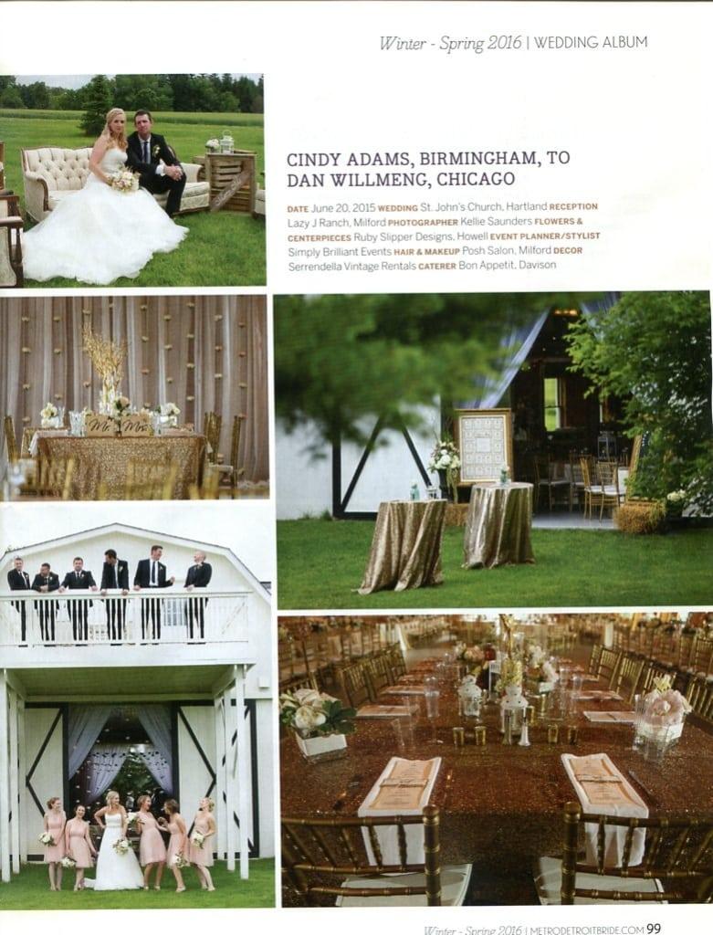 Hour Detroit Magazine, Detroit Wedding Planner, Ann Arbor Wedding Planner, Brighton Wedding planner