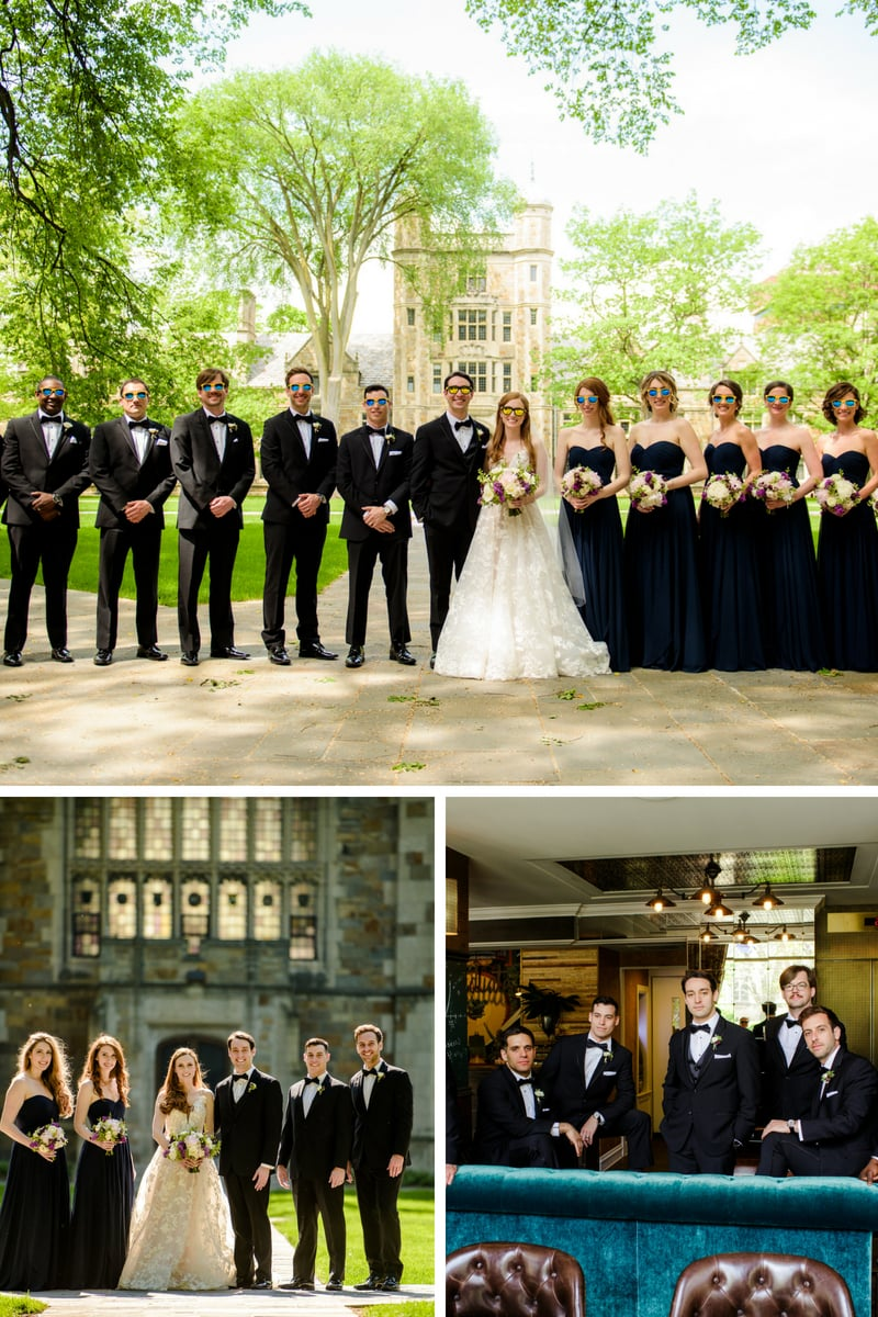 bridal party photos, university of michigan, simply brilliant events