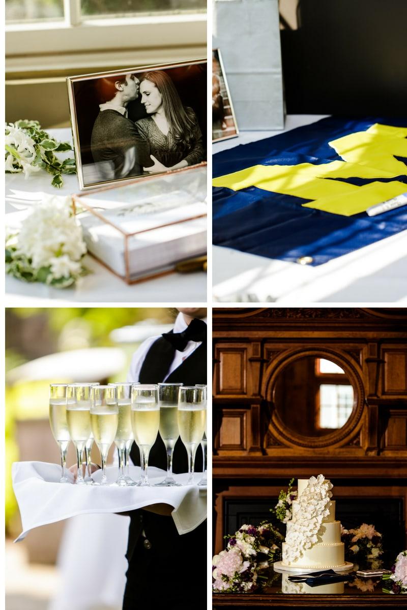 simply brilliant events, ann harbor destination wedding
