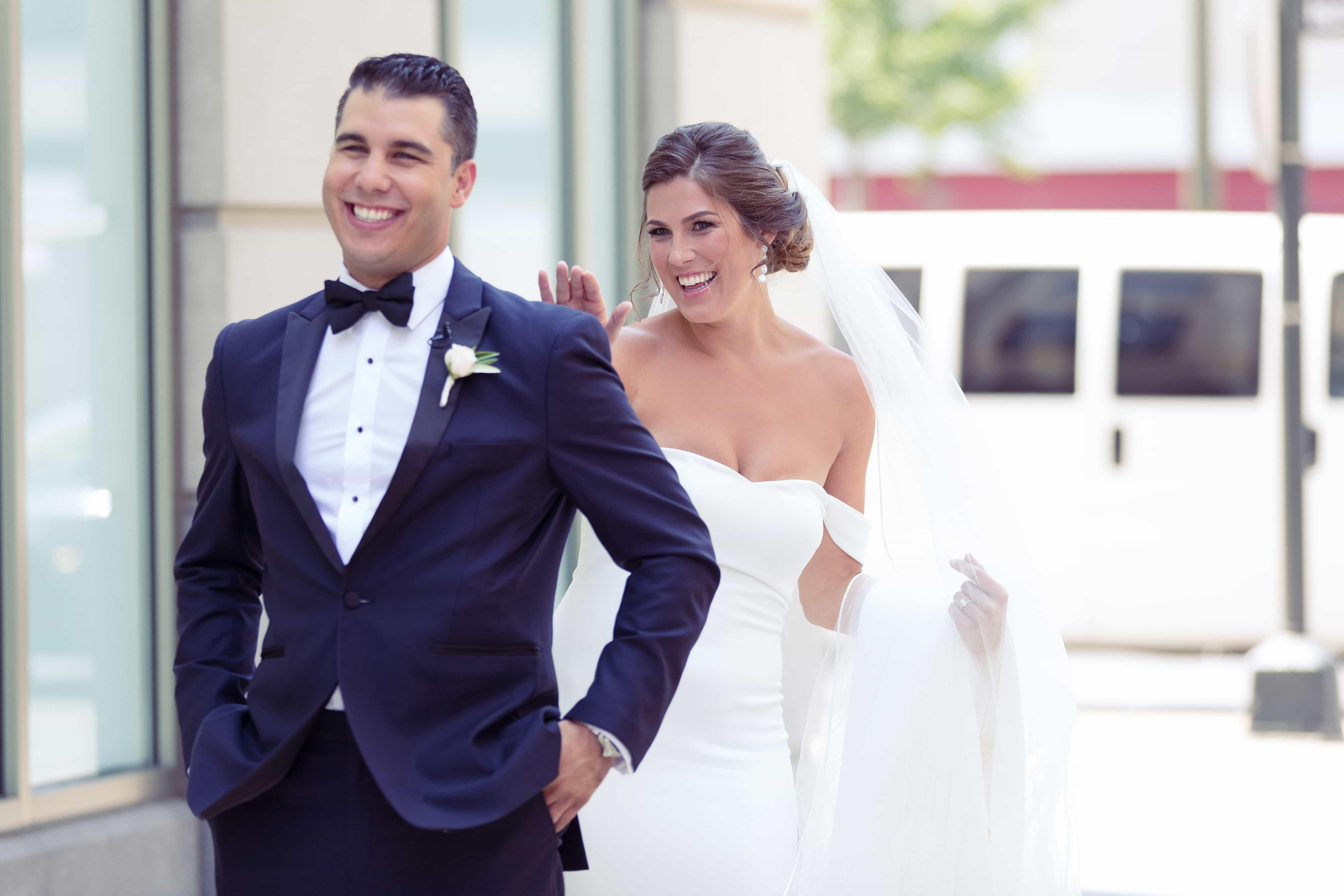 simply brilliant events, detroit destination wedding, detroit wedding planner, first look