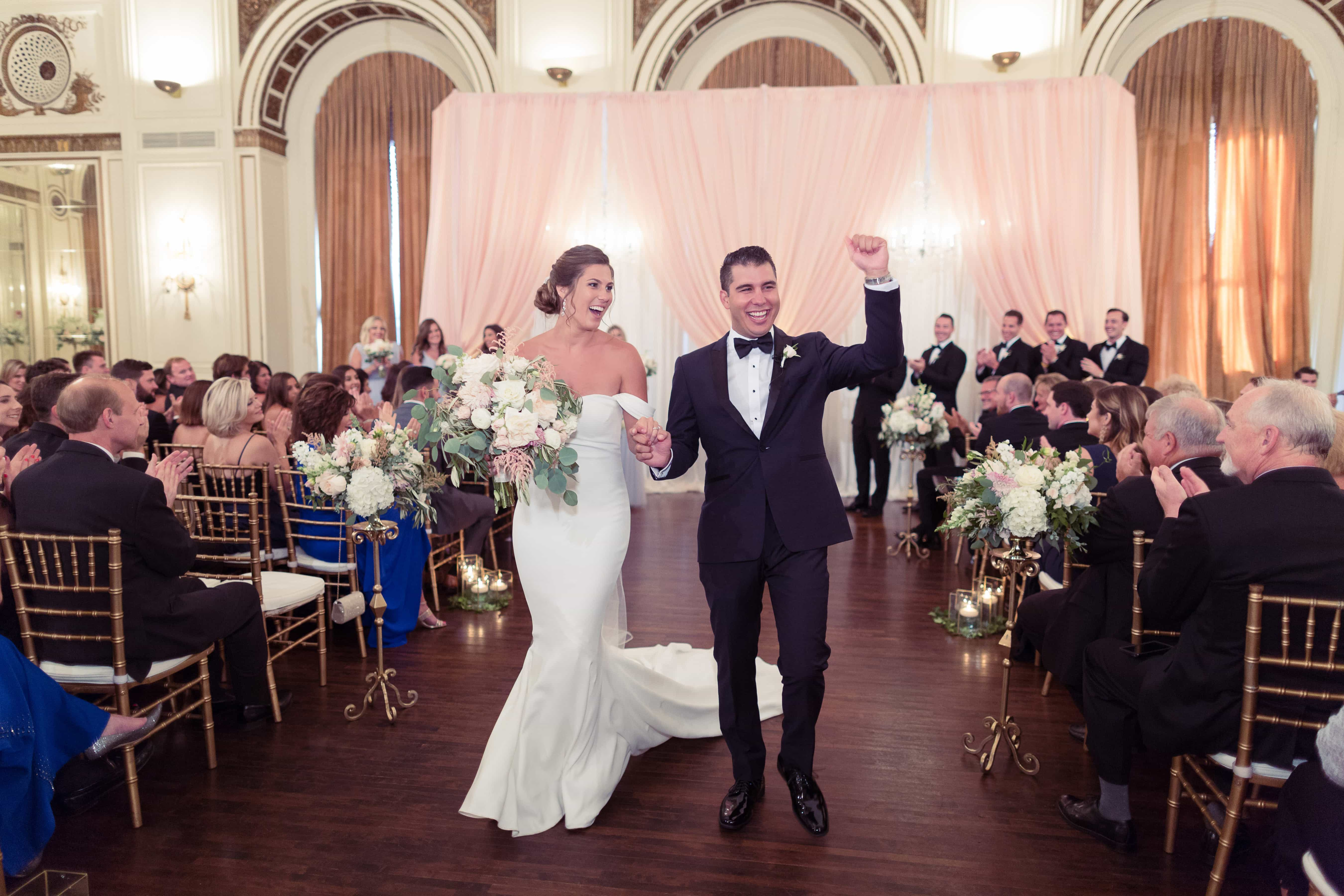 couple introduction, simply brilliant events, detroit elegant wedding