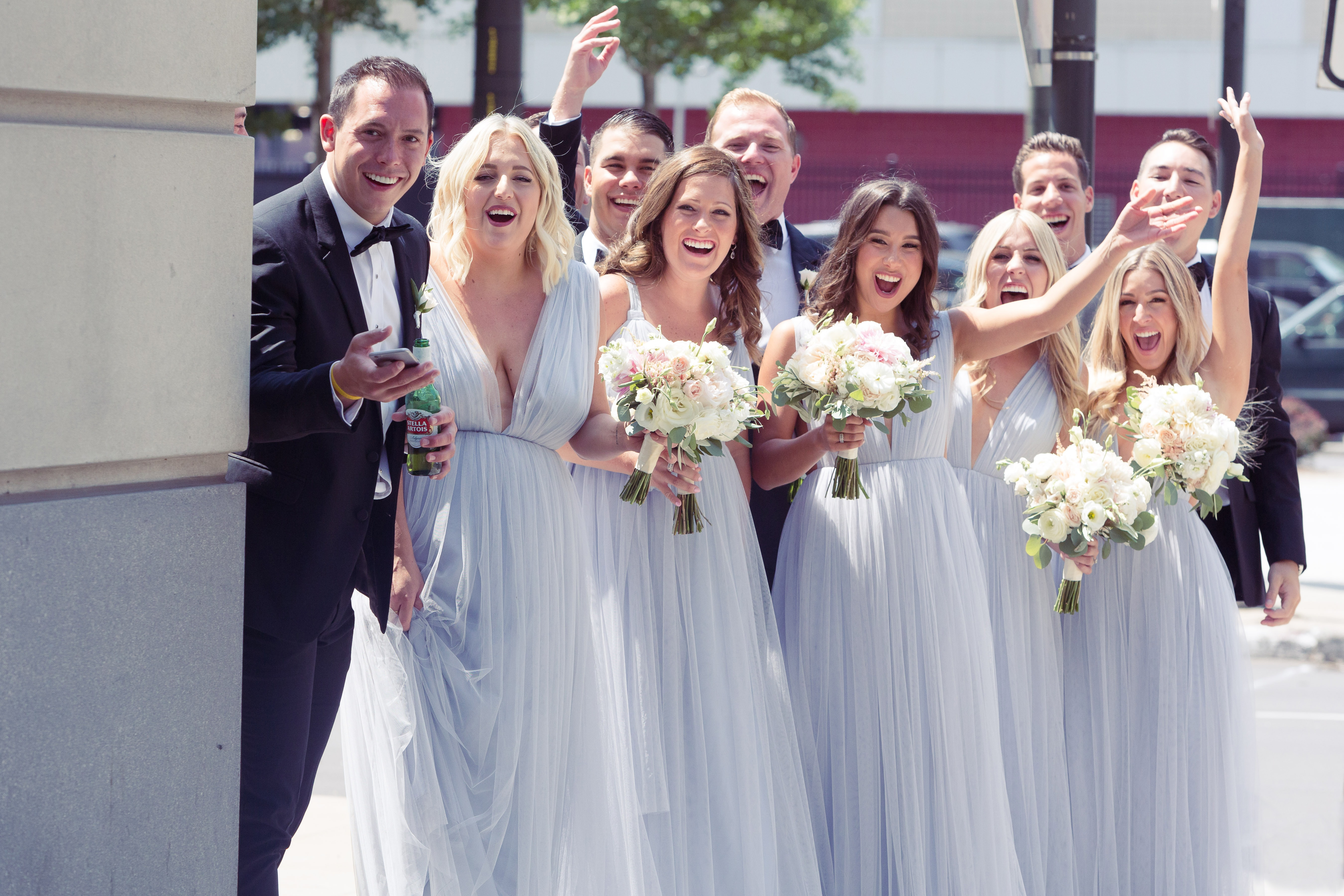 wedding party, congrats, colony club, simply brilliant events