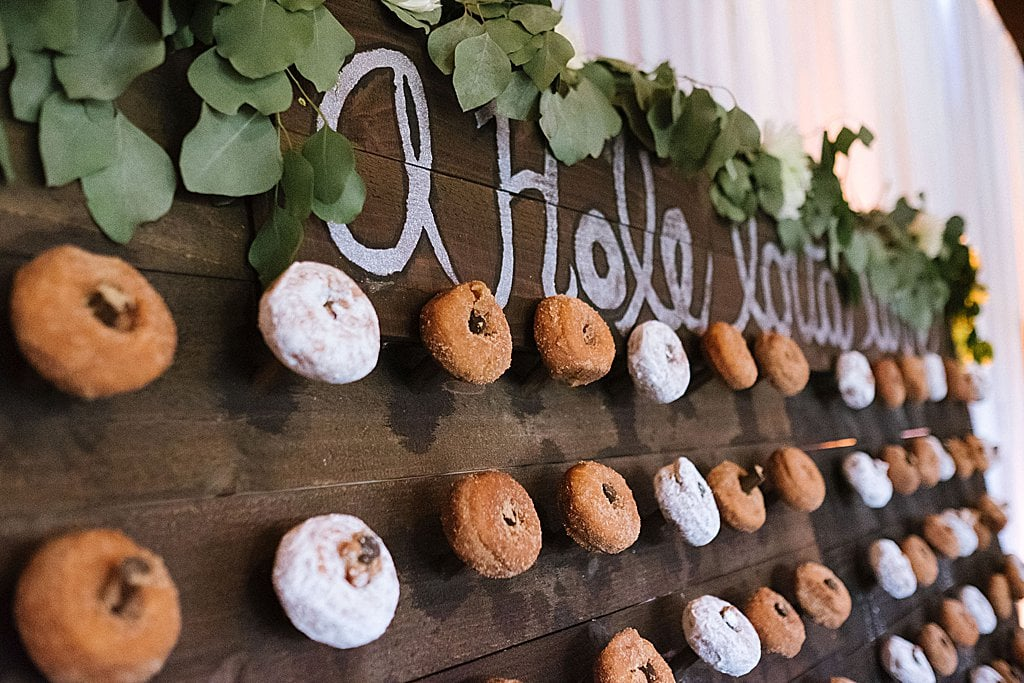 Elegant Ski Resort Wedding, simply brilliant events, elegant wedding, donut favors